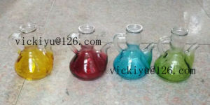 Green Glass Bottle for Oil 150ml, Colored Glass Oil Bottle