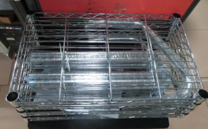 Slanted 5 Tiers Chrome Metal Bread Display Rack Shelving Manufacturer pictures & photos
