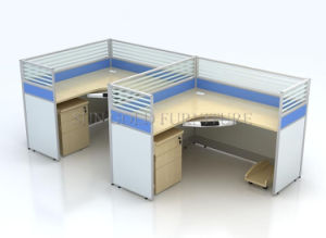 Modern Office Furniture 2 Person L Office Partition Workstation (SZ-WS251) pictures & photos