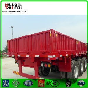 Chinese 50t Tri-Axle Side Wall Bulk Cargo Semi Trailer pictures & photos