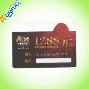 Plastic Barcode Card with Metallic Printing Bottom on Both Sides pictures & photos