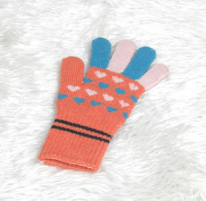 Five Fingers Acrylic Lady Jacquard Glove pictures & photos