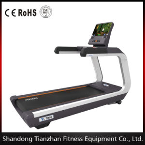 Luxury Building Commercial Treadmill (With TV) with Noiseless AC Power/Touch Screen Treadmill pictures & photos