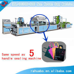 Non Woven Bags Making Machine with Handle Attached pictures & photos