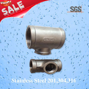 Stainless Steel Female Reducing Casting Tee, Pipe Fittings Tee pictures & photos