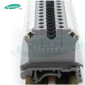UK Universal Electrical Terminal Block PCB Terminal Block Screw Terminal Block DIN Rail Terminal Block pictures & photos