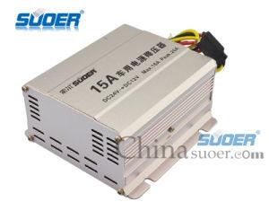 Suoer 15A DC 24V to 12V Car Power Converter (SE-15A) pictures & photos