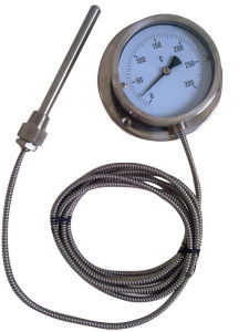 Bottom Type Pressure Thermometer with Capillary (B-0074)