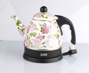 0.8L Enamel Electric Kettle with Decal pictures & photos