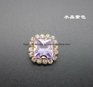 Square Amethyst Necklace Sew on Glass Crystal Beads for Jewelry (SW-Square 10mm) pictures & photos