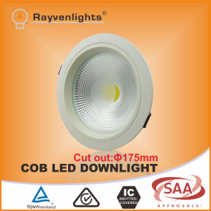 20W COB Dimmable LED Downlight Cutout 175mm SAA