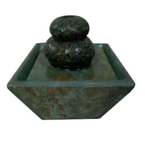6 Inch Slate & Glass Indoor Tabletop Fountain pictures & photos