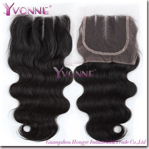 Fashion Body Wave Three Part Brazilian Hair Lace Top Closure pictures & photos