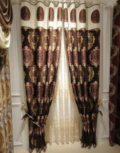 Chenille Jacquard Curtain Decoration Curtain (KS-158) pictures & photos