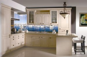 Latest European Style Wooden Kitchen Cabinet pictures & photos
