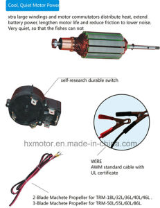 86lbs DC Electric Outboard Motor for Kayak Boat pictures & photos