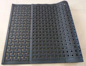 Hot Sale Anti Fatigue Rubber Floor Matting Anti-Slip Rubber Flooring, Hotel Rubber Tiles pictures & photos