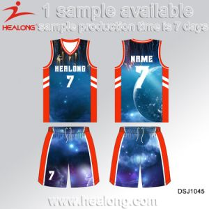 Red Color Customized Design Full Sublimation Basketbaljerseys pictures & photos