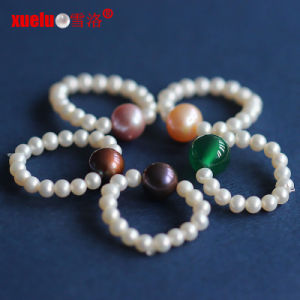 Small Round Natural Freshwater Pearl Rings Designs for Girls (E170001) pictures & photos