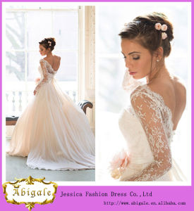 Newest Model Brand Name Floor Length Empire Scoop Neck Wedding Dresses for Pregnant Brides (WD09)
