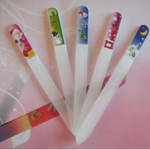 Nail Glass File Printed With Snowman (N-003)