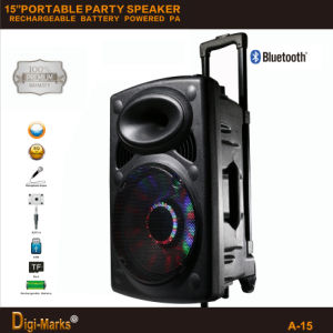 Ce/RoHS/FCC/UL Multimedia Karaoke Portable Speaker Trolley Bluetooth Amplifier DJ Speaker pictures & photos