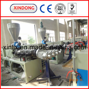 4 Heads Conical Twin Screw Extruder pictures & photos