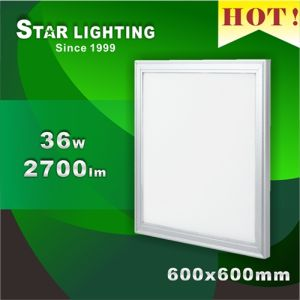 No Strobolfash 600X600m Square LED Panel Light Lamp