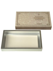 Silver Card Paper Foldable Drawer Chocolate Packaging Box with Sleeve pictures & photos