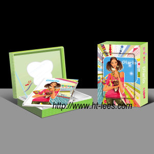 Music Diary with Lock and Mirror in Gift Box (0632-6)