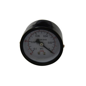 1.5inch-40mm Black Steel Case Brass Back Vacuum Manometer pictures & photos