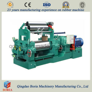 Twin Roll Mixing Mill with Stock Blender pictures & photos