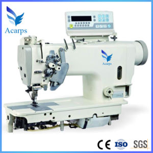 Gem8450d3-H Direct Drive Micro-Oil Auto Trimmer Double Needle Lockstitch Sewing Machine