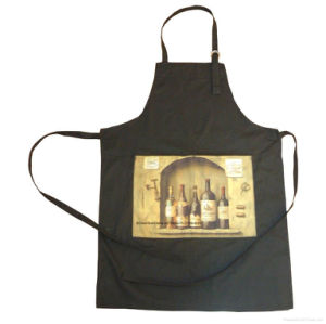 OEM Produce Custom Made Promotional Cotton Brown Customized Logo Printed Cooking Bib Apron pictures & photos