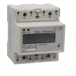 Single Phase DIN-Rail Smart Watt-Hour Meter with LCD/LED Digital Display pictures & photos
