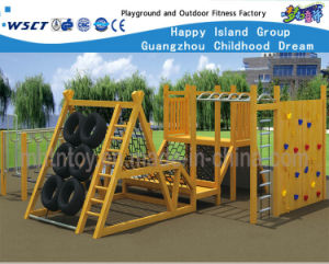 Wooden Amusement Fitness Park Outdoor Playground Hf-17505 pictures & photos
