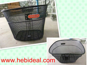 Black Steel Color Basket for Bicycle Use