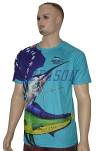 Custom Your Own Plain Short Sleeve Fishing T-Shirt (F020) pictures & photos