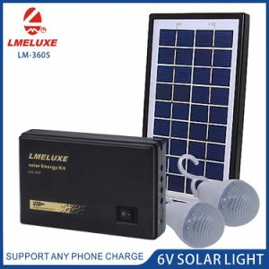 3W Rechargeable Emergency Solar System with 2 Bulbs Lighting pictures & photos