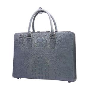 Men Business Briefcase Genueine Leather Crocodile Computer Laptop Bag pictures & photos