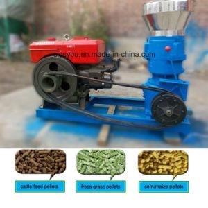 Diesel Motor Flat Die Wood Pellet Press Granulator Machine pictures & photos