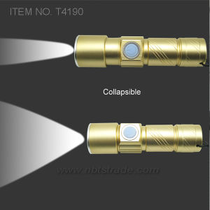 Super Bright USB Rechargeable LED Flashlight (T4190) pictures & photos