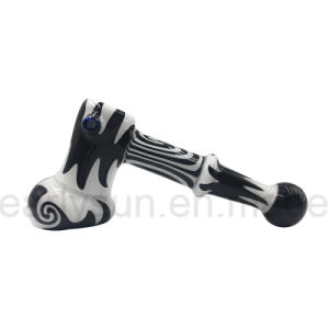 Glass Large Hammer Bubbler for Smoking with Black&White Color (ES-HP-555) pictures & photos