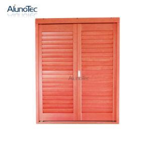 Adjustable Wood Louvres Jalousie Window Door