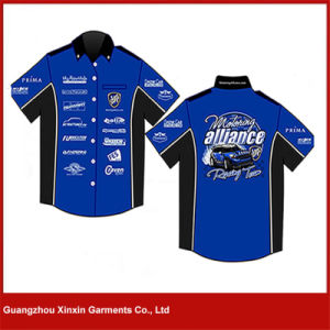Guangzhou Custom Made Cotton Men Sport Racing Shirts Supplier (S62) pictures & photos