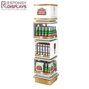 POS High End Metal Beer Can Side Stack Display Shelves pictures & photos