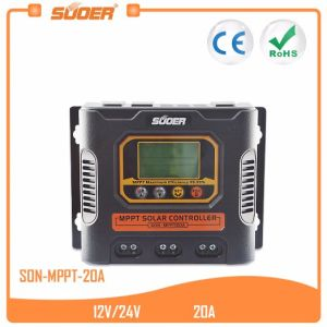Suoer 12V 24V 20A MPPT Solar Charging Controller (SON-MPPT-20A) pictures & photos
