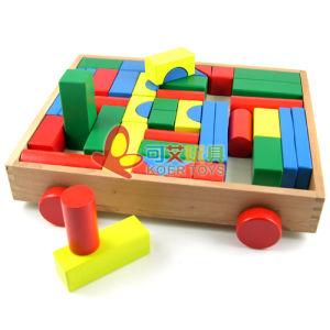 Educational Toys-Wooden Blocks Car (LX611)