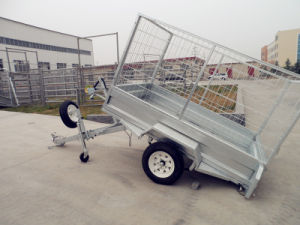 Farm Hot Galvanized Box Cage Australia Tipping Trailer pictures & photos