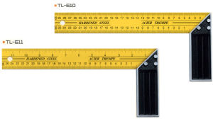 2013 Yellow Painted Aluminum Angle Square/Try Square Steel Try Square Ruler (E0601) pictures & photos